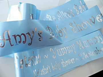Blue Baby Shower Sash